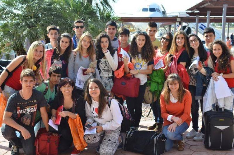 Visita al IES Mediterráneo, en Garrucha.