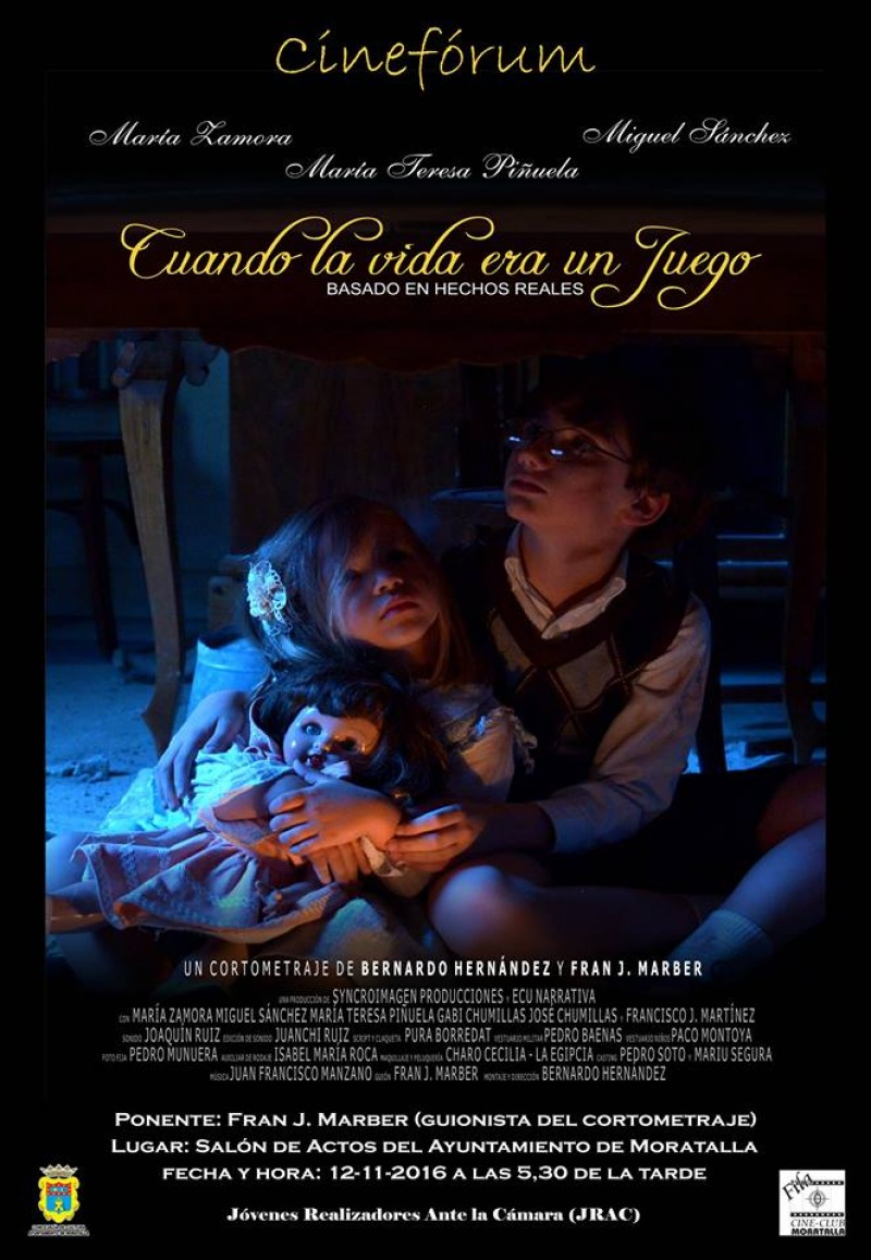 Fran J. Marber, en ell I Cineforum de Moratalla.