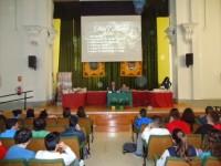 Día del Libro. Conferencia sobre el trabajo de un escritor a los alumnos del IES Ibañez Martín.