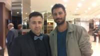 Con el actor Hugo Silva que fue galardonado por su último trabajo.