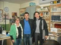 Un recibimiento muy cariñoso por parte del profesorado de Cartagena que integraron